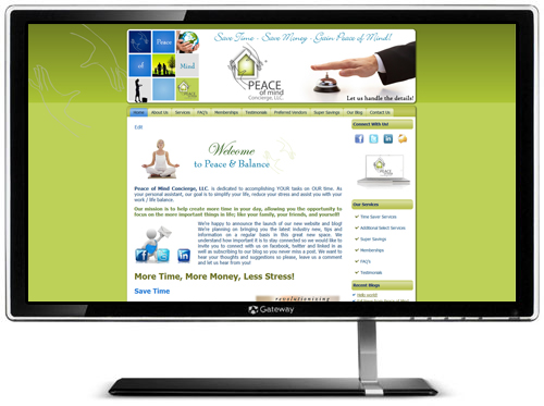 Peaceof Mind Concierge website