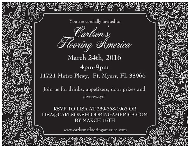 Invitation Carlsons Flooring America